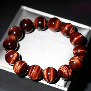 Fabolouz Natural Red Tigerite Tiger's Eye Stone Bracelet - Fabolouz