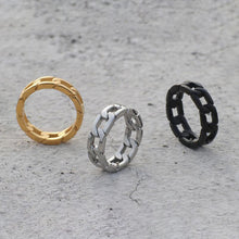 Hipster Titanium Steel Retro Chain Index Ring Ring For Male