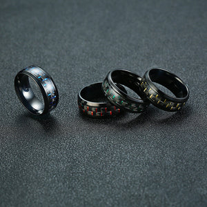 Fabolouz Real Carbon Fiber Made Clean Finger Ring - Fabolouz