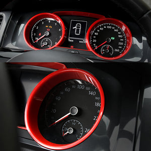 ABS Made Dashboard Panel Frame Trim for VW MK7 MK7.5 (Red)