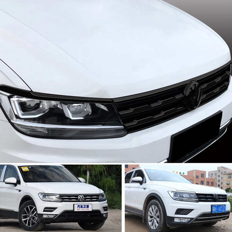 ABS Made Black Front Grill Frame Sticker Emblem Sticker for VW Tiguan 2017 - 2020