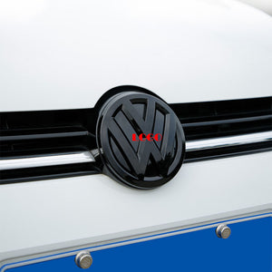 ABS Made Front and Rear Black Emblem Badge Stickers For MK7 MK7.5 Models