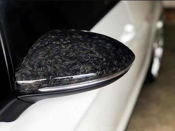 Forged Carbon Fiber Made Side Door Mirror Cover Cap For Vw Golf Mk7 Gt