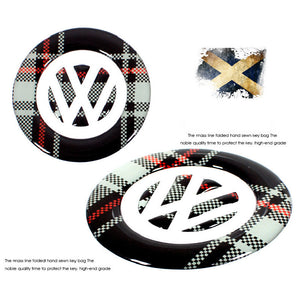 Steering Wheel Emblem Scottish Style Sticker For Volkswagen Golf 6 Polo 2013 - 2015