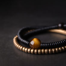 Fabolouz Natural Iso Tigerite Tiger's Eye and Brass Cooper Bracelet - Fabolouz