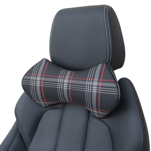Scotland Pattern Cotton Headrest Car Use Neck Pillow