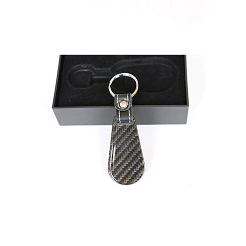 Real Carbon Fiber Key Chain Key Fob with Stitched Leather (Style D) - Fabolouz