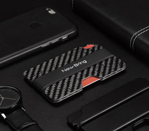Real Carbon Fiber Anti-Theft Proficient Slim Card Holder Money Bill Clip (Vr.1) - Fabolouz