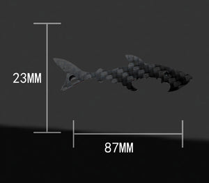 Real Carbon Fiber Fish Shaped Keychain Bottle Opener Tool