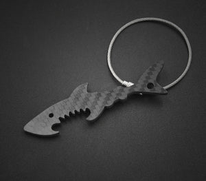 Real Carbon Fiber Fish Shaped Keychain Bottle Opener Tool - Fabolouz