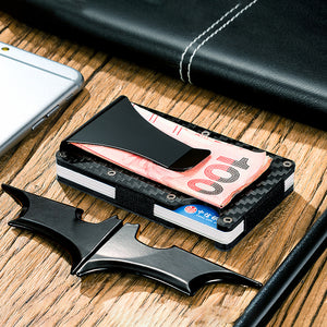 Real Carbon Fiber Anti-Theft Proficient Multi-Function Card Holder Money Bill Clip - Fabolouz