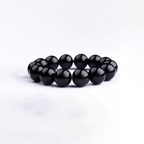 Fortunate Natural Black Dark Obsidian Stone Bracelet - Fabolouz