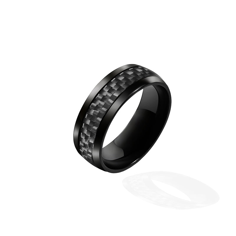 Real 8MM Gross Carbon Fiber Finger Ring - Fabolouz