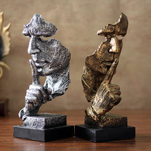 Silence Men Statues Figurine for Home Decoration