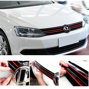 Mesh Front Grill Red Sticker Line Liner For VW Golf MK7 MK7.5