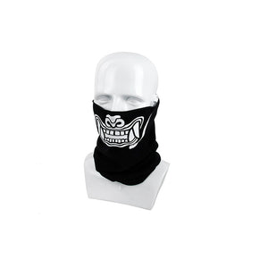TMC Multi Function Ghost Skull Head Wrap (Black) Half Face Wrap