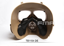 FMA Full Face Sweat Prevent Mist Fan Mask (DE) for Tactical Airsoft Outdoor Game