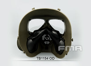 FMA Full Face Sweat Prevent Mist Fan Mask (OD) for Tactical Airsoft Outdoor Game