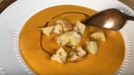 Roasted in the Fontana Wood-Fired Oven Creamed Winter Squash Soup