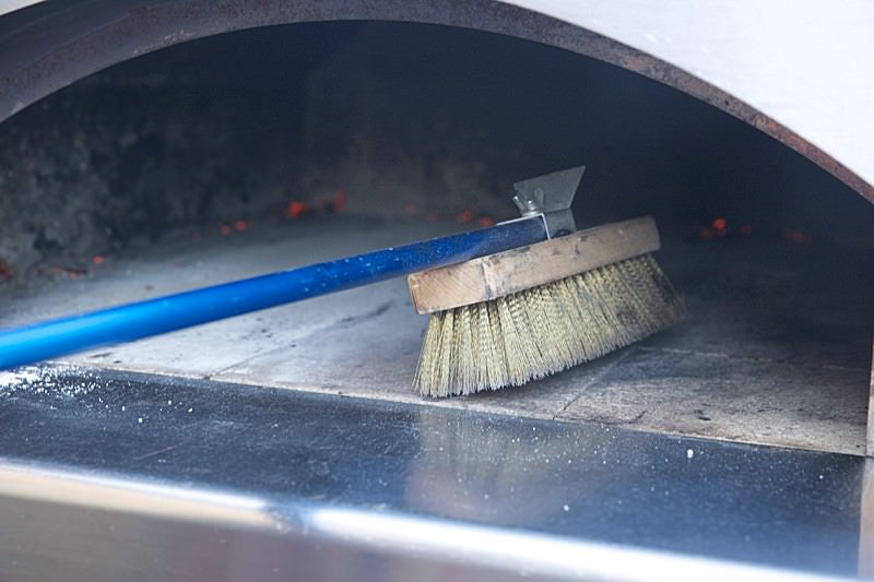 Captivating Sweep Oven Floor Score Dough For Bread Baked In The Fontana Wood Fired Oven