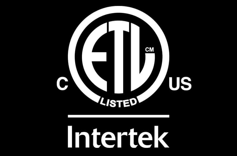 Interek – ETL Certified Listed