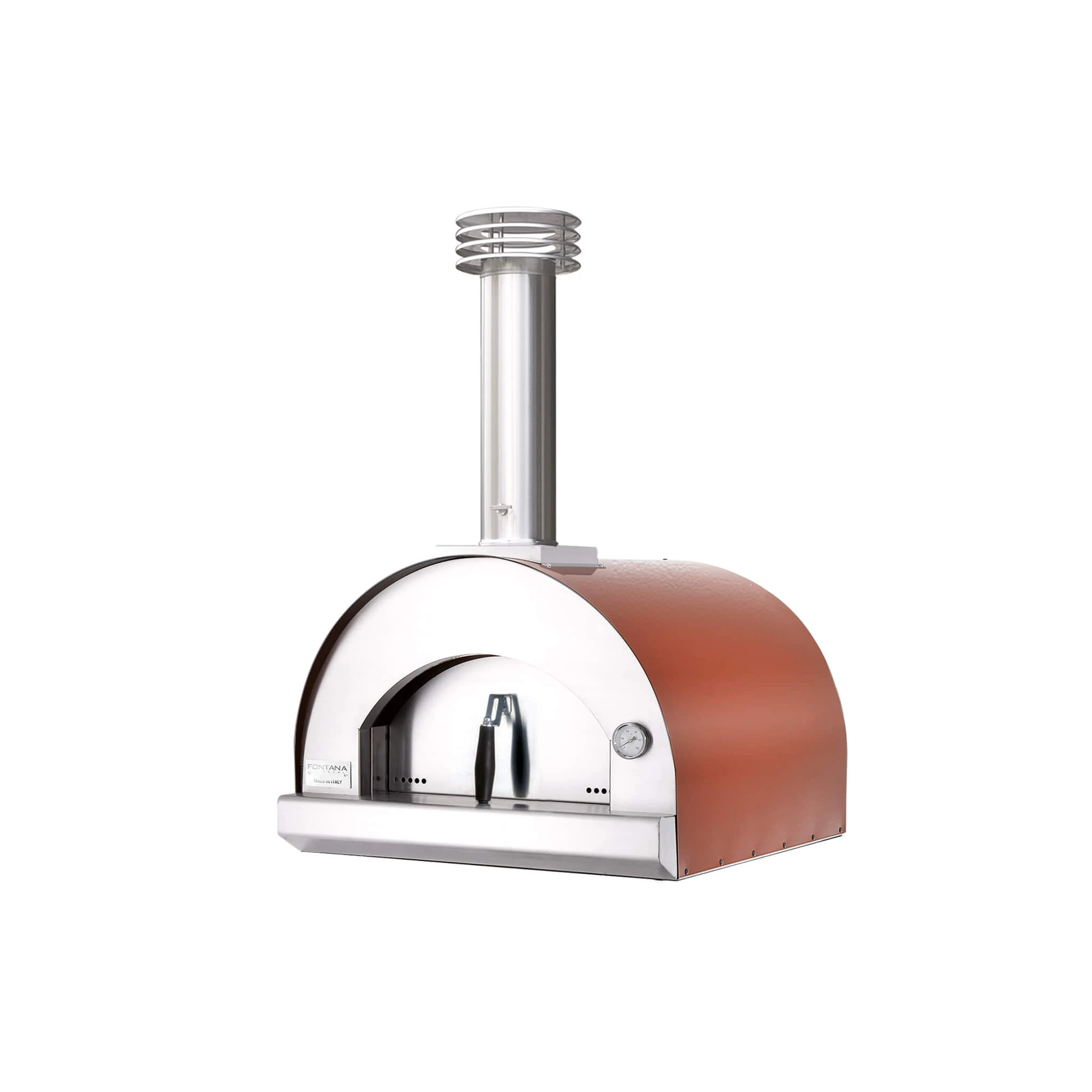 stainless steel wood fired pizza oven