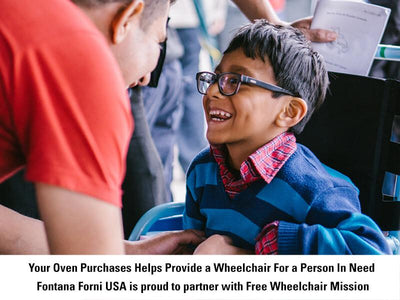 Pizza Oven Purchases is Partnered With Wheelchair Mission