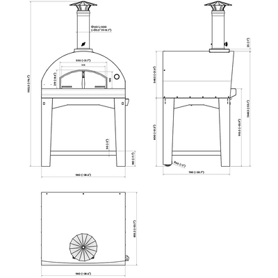 The Mangiafuoco Wood Pizza Oven Dimensions