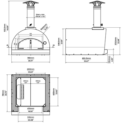 The Margherita Countertop Pizza Oven