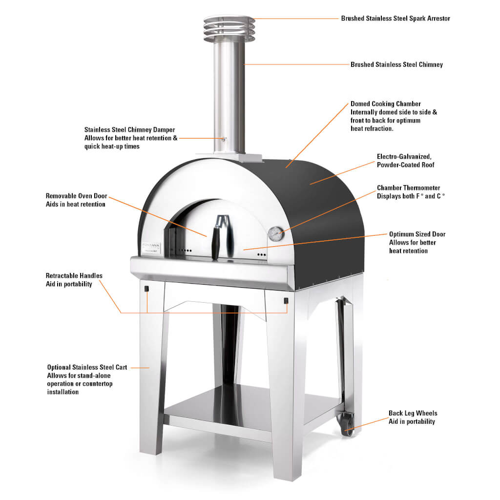 The Margherita Wood Fired Pizza Oven Wood Burning Pizza Ovens