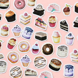 45 pcs/lot Birthday Cake mini paper stickers