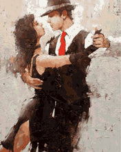 """Dancing Couple"" Grown up paint by numbers"