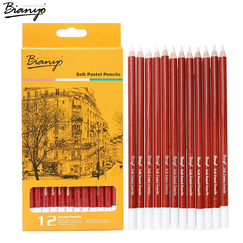 12Pcs/Set Soft Professional White Pencils