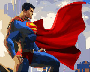 """Superman"" grown up paint by numbers"