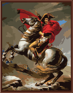 """Napoleon Crossing The Alps"" Grown Up Paint By Numbers"