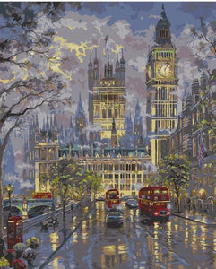 """London"" grown up paint by numbers"