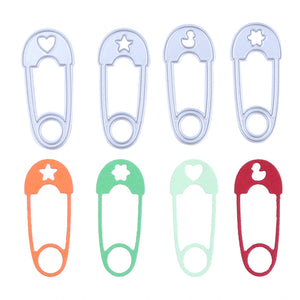 4pcs Safety Pins Cutting Dies