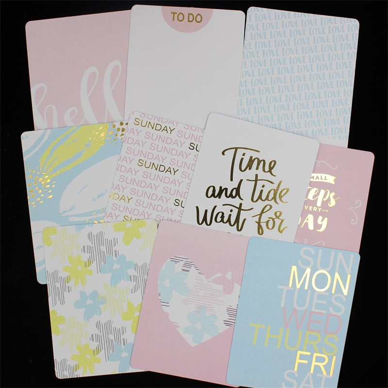 10x Double-sided Days Cardstock Die Cuts