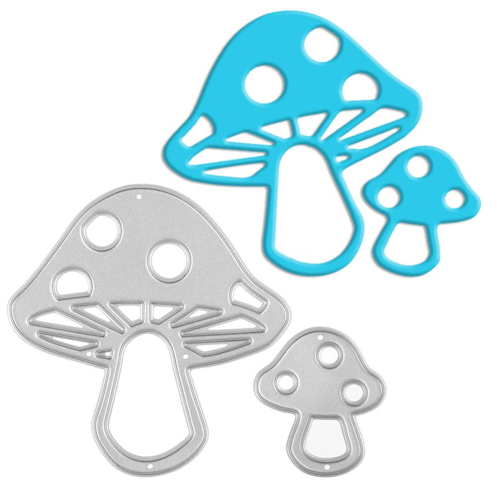 2Pcs Mushrooms Metal Cutting Dies