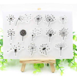 Dandelion Clear Silicone Stamps