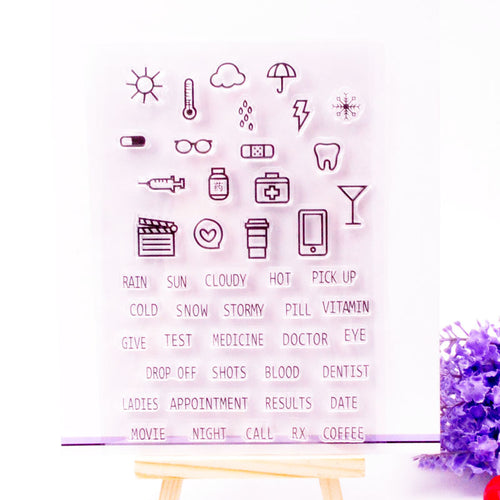 weather themed clear silicone stamps