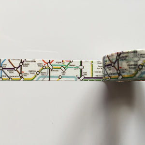 Vintage map themed washi tape