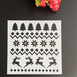 Christmas Pattern Themed Stencil