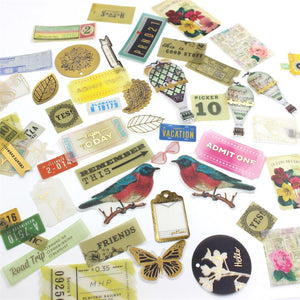 50pcs Retro styled pvc stickers