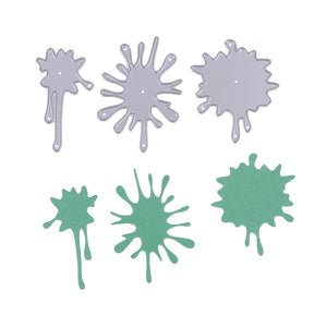 3pcs Paint Splat Cutting Die