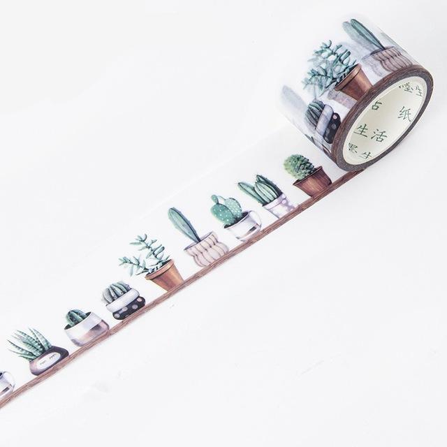 Cactus Themed Washi Tape