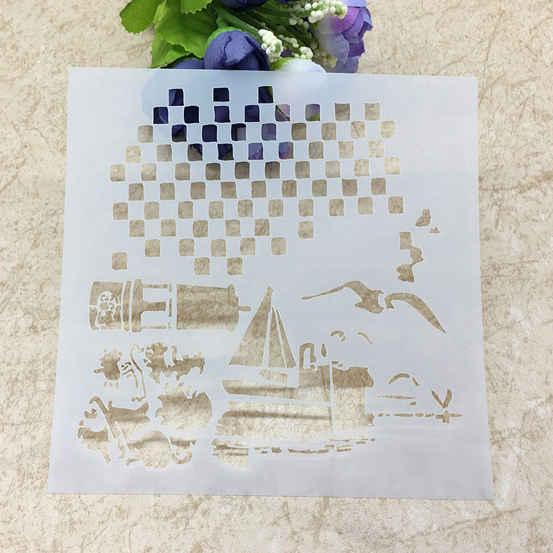 Seaside themed stencil