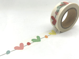 Hearts On A String Washi Tape