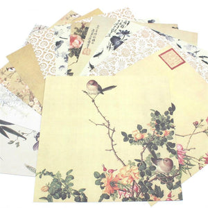 "12pcs 6"" Single-side Printed Bird pattern papercraft art paper"