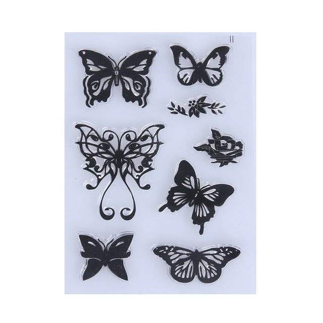 Butterfly Clear Silicone Stamps